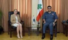 اللواء عثمان يستقبل الوزير السابق سلامة وسفيرة النرويج في لبنان بمكتبه