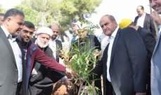 """حملة المليون  شجرة """"أخضر على الحدود """" من مدينة النبطية برعاية وزير البيئة"""