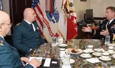 قائد الجيش شدد على ضرورة استمرار الدعم الأميركي للجيش اللبناني