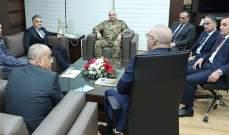 قائد الجيش اجتمع مع قادة الأجهزة الأمنية لتنسيق الجهود بمجال رصد أي نشاط إرهابي