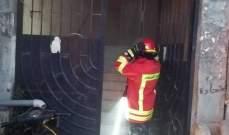 النشرة: إخماد حريق اسلاك كهربائية داخل غرفة ساعات في صيدا
