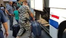 النشرة:إنطلاق حافلتين للنازحين السوريين العائدين من سراي صيدا إلى سوريا