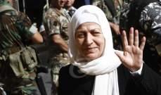بهية الحريري:  لاهمية التمسك بمظلة المجتمع الدولي للمطالبة بالحق