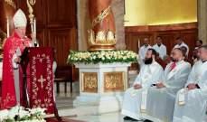 مطر رقى 3 كهنة جدد في أبرشية بيروت: لبنان ليس موضع شك للمسيحيين بل هو ثابت بقوة أبنائه