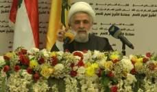 نعيم قاسم: الحلول السياسية في المنطقة متأخرة الى سنة او اكثر