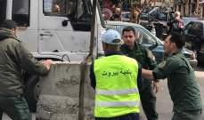 بلدية بيروت ازالت المخالفات والتعديات على الملك العام في حي اللجا- مصيطبة