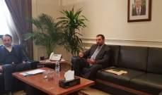 عازار اطلع على جهود مصلحة الليطاني لرفع التلوث عن النهر
