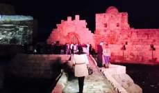 النشرة: إضاءة أسوار قلعة صيدا البحرية بصورة القدس والمسجد الأقصى