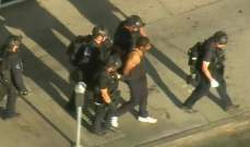 الشرطة الأميركية تعتقل مسلحا قام بإطلاق النار أثناء مطاردته بلوس أنجلس