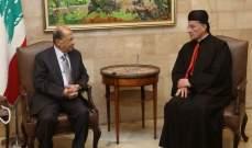 الراعي تلقى اتصالا من رئيس الجمهورية اطمأن فيه على صحته