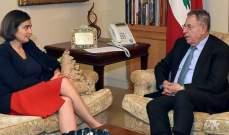 السنيورة عرض مع سفراء كندا وتونس والتشيلي والمغرب الاوضاع الراهنة