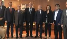 وفد من جمعية خريجي كلية الحقوق في جامعة الحكمة زار وزير العدل