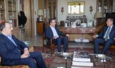 معوض عرض التطورات على الصعيدين المحلي والاقليمي مع طرابلسي