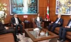 إبراهيم استقبل عضوين في مجلس الشعب السوري وبحث معهما في الاوضاع العامة