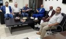 النشرة: وفد من الجماعة الاسلامية بصيدا يزور العميد شمس الدين