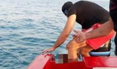إنقاذ شاب من الغرق من وسط البحر مقابل شاطئ صور