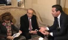 رائد خوري التقى نظيره الجزائري سعيد جلّاب