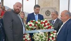 رفول وضع اكليلا من الزهر على نصب شهداء الجيش في المنية في ذكرى 13 تشرين: الذكرى محفورة بوجدانا