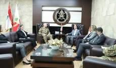 قائد الجيش استقبل المدعي العام المالي وسمير الضاهر وميشال روحانا