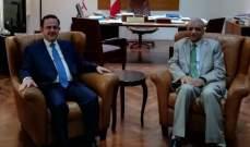 كيدانيان بحث مع العامري في مصاعب السائح العراقي الاستشفائية في لبنان