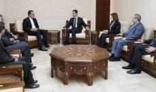 الأسد عرض المراحل التي تحققت في مكافحة الإرهاب مع أنصاري