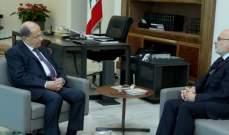 الرئيس عون استقبل وزير التربية اكرم شهيب وعرض معه شؤون الوزارة