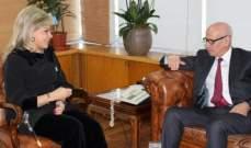 """شدياق التقت مدير قسم الاستثمار في """"الأونكتاد"""" وسفير المغرب"""
