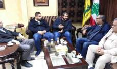 مسؤول صيدا بحزب الله عرض مع وفد من الجبهة الديمقراطية للتنسيق لحل ملف المطلوبين الفلسطينيين