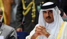 أمير قطر: على المجتمع الدولي التوصل لحل سياسي يحقن الدم السوري