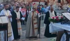 الحاج تراس قداس عيد مار يوحنا في سردا: للتمسك بالارض والمحافظة عليها