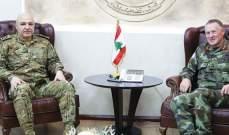"""قائد الجيش استقبل قائد قوات """"اليونفيل"""" بزيارة وداعية وسفيرة لبنان في تشيلي"""