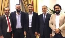 احمد الحريري عرض شؤونا هامة متعلقة بخدمة أهالي بيروت مع شبيب