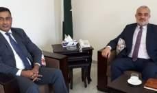 رئيس جمعية تجار لبنان الشمالي بحث مع سفير باكستان بسبل تعزيز العلاقات الثنائية