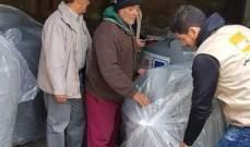النشرة: انطلاق عملية اصلاح الاضرار التي لحقت بممتلكات مخيم المية ومية
