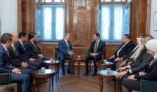 الأسد: المعركة التي تواجهها منطقتنا طويلة وجوهرها ضرب الإنتماء لدى العرب