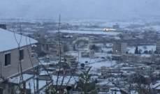 النشرة: بدء تساقط الثلوج في مدينة زحلة