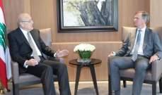 ميقاتي التقى سفير بريطانيا ووفدا من حركة حماس