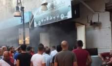 النشرة: اخماد حريق محل في محلة الشاكرية في صيدا