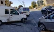النشرة: سقوط جرحى بحادث سير على طريق عام العديسة مركبا
