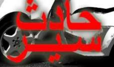 جريحان في حادث سير على طريق داخلية بين بشمزين وكفرحزير