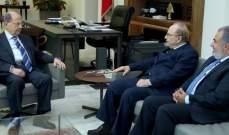 الرئيس عون استقبل حنا الناشف لتهنئته على موقفه بالأمم المتحدة