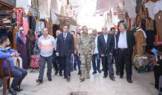قائد منطقة الشمال العسكرية يتفقد الاسواق الداخلية في طرابلس