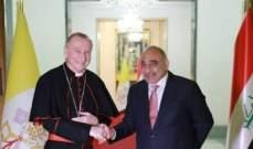 وصول رئيس وزراء الفاتيكان إلى بغداد للمشاركة في قداديس الميلاد في كنائس العراق