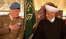 دريان يستقبل القائد العام لليونيفيل ووفدا من المعهد العربي للتخطيط في الكويت