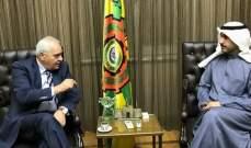 غسان غصن يلتقي المدير العام لمنظمة العمل العربية في القاهرة