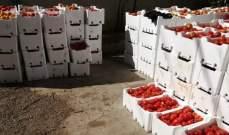 الضابطة الجمركية بالبقاع ضبطت 3 أطنان من البندورة السورية في سوق قب الياس