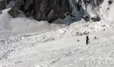 الشرطة السويسرية: انهيار جليدي تسبب بـ