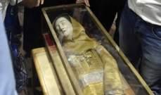 وصول ذخائر القديسة مارينا الى وادي قنوبين