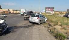 جريحان نتيجة تصادم بين مركبتين على اوتوستراد القلمون باتجاه البترون