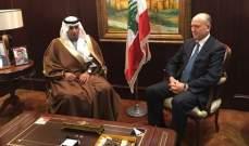 ريفي استقبل اليعقوب:واهم من يعتقد أنه يستطيع التشويش على علاقة لبنان بالسعودية